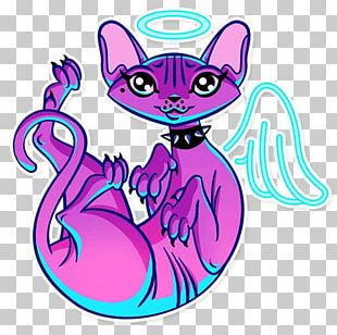Sticker Whiskers Telegram Cat PNG