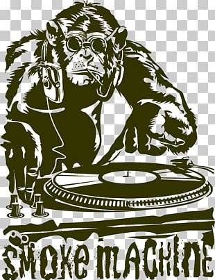 Gorilla Disc Jockey House Music PNG