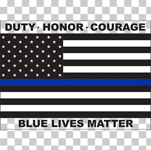 Blue Lives Matter Thin Blue Line Flag Of The United States PNG