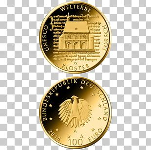 Lorsch Abbey Coin 100 Euro Note Gold PNG