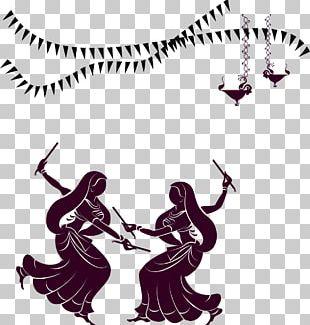 Garba Dandiya Raas Navaratri Dance PNG