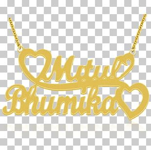 Necklace Charms & Pendants Gold Name Plates & Tags PNG
