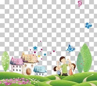 Cartoon Poster Father Illustration PNG