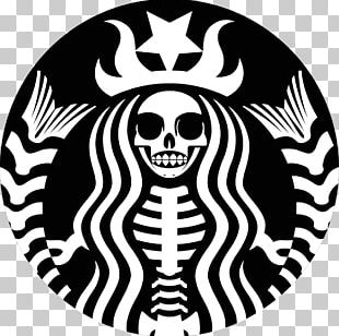 Coffee Starbucks Cafe Espresso Skull PNG