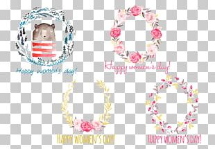 International Womens Day Graphic Design Wreath Woman PNG