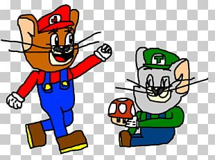 Mario Bros. Nibbles Tom Cat Jerry Mouse PNG