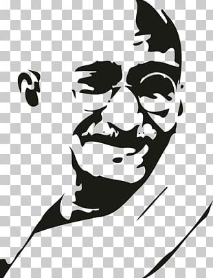 India Gandhi Jayanti Stencil Gandhi: My Life Is My Message PNG