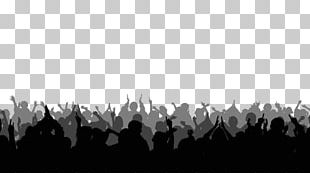 Silhouette Stock Footage Crowd PNG