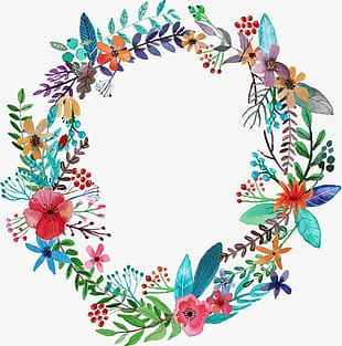 Hand-painted Garlands PNG