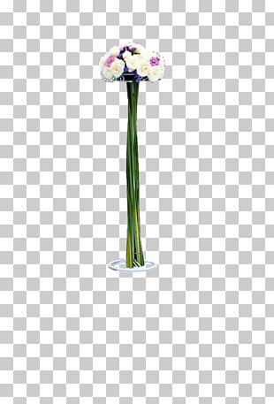 Vase Flower Purple Pattern PNG