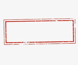 Rectangular Seal Background Material Frame PNG
