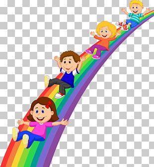 Rainbow Child Cartoon Illustration PNG