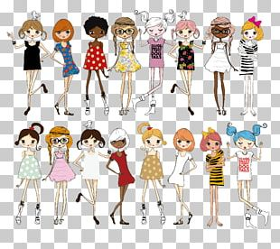Fashion Illustration Cartoon Illustration PNG