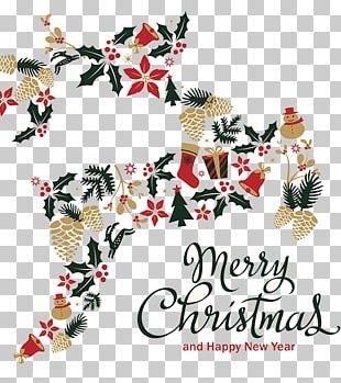 Rudolph Reindeer Christmas Santa Claus Illustration PNG