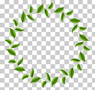 Tea Leaf Circle Wreath PNG