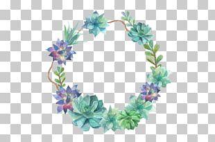 Succulent Monogram Wedding Invitation Initial Letter PNG