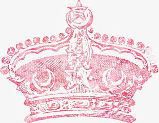 Pretty Pink Crown PNG