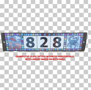 Horizontal Plane Stained Glass Mosaic Tattoo PNG