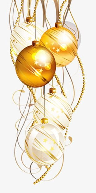Painted Yellow Christmas Ball PNG