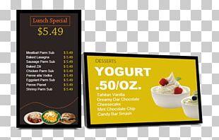 Fast Food Digital Signs Signage Menu Restaurant PNG
