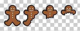 Gingerbread Man Eating Food PNG