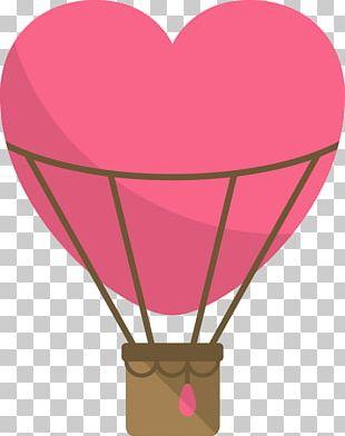 Hot Air Balloon Heart PNG
