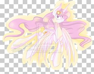 Fairy Horse Illustration Cartoon Pink M PNG