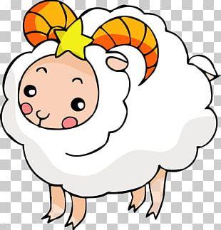 Sheep Cartoon Illustration PNG