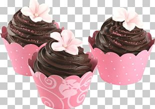 Cupcake Frosting & Icing Petit Four Chocolate Cake PNG