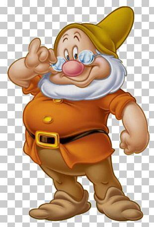 Seven Dwarfs Bashful Dopey Grumpy Sneezy PNG