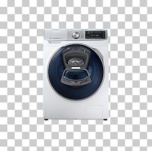 Washing Machines Samsung WW8800 QuickDrive Máquina De Lavar E Secar Roupa Carga Frontal Samsung WW8800 10Kg A+++ Prateado PNG