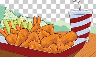 Fast Food Buffalo Wing Junk Food Fried Chicken Illustration PNG