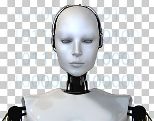 Humanoid Robot Cyborg Woman Face PNG
