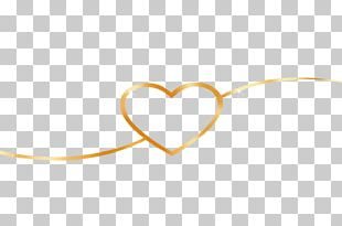 Yellow Heart Body Jewellery Font PNG