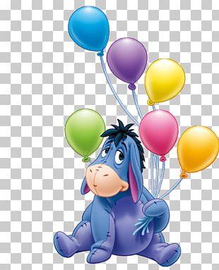 Eeyore's Birthday Party Winnie The Pooh Piglet Birthday Cake PNG