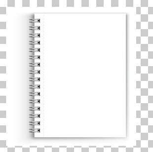 Paper Notebook White Black Font PNG