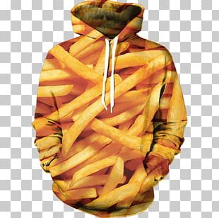 French Fries Hoodie Fried Chicken Fast Food Junk Food PNG