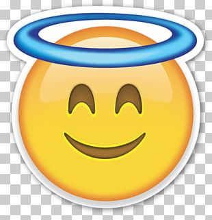 Smiley Emoji Emoticon Angel PNG