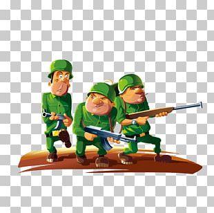 Soldiers At War Cartoon PNG