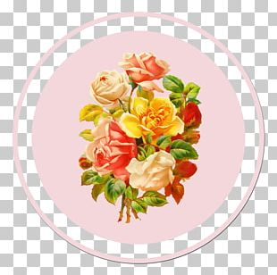 Flower Bouquet Rose Sticker Retro Style PNG