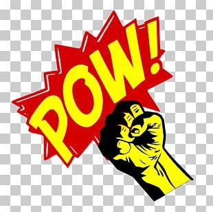 Punch Pow Comic Book Punch Hero PNG
