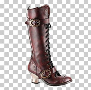 Steampunk Knee-high Boot Shoe Wave-Gotik-Treffen PNG
