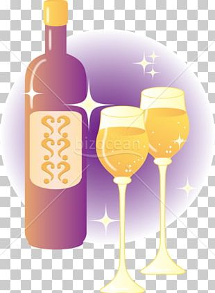Wine Cocktail Wine Glass Glass Bottle White Wine PNG