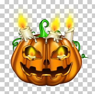 Halloween Jack-o-lantern Pumpkin Candle Illustration PNG