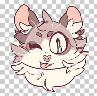 Whiskers Cat Drawing PNG