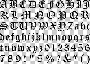 Blackletter Typeface Gothic Alphabet Font PNG