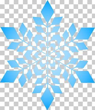 Snowflake Blue PNG