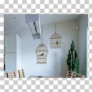 Bird Wall Cage Sticker Ceiling PNG