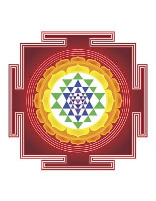 Sri Yantra Meditation Symbol Sacred Geometry PNG