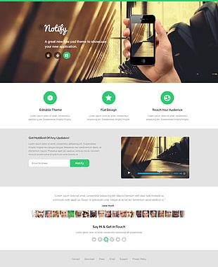 Web Template System Landing Page Web Page Website Web Design PNG